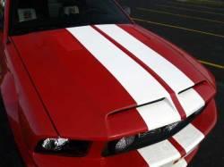 Fiberglass - S-Styled - TruFiber - 05 - 09 Mustang V6/GT Ram Air Fiberglass GTS3 Hood