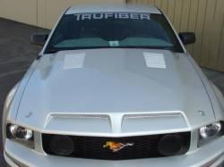 Fiberglass - Hoods - TruFiber - 05 - 09 Ford Mustang Fiberglass Recessed Hood