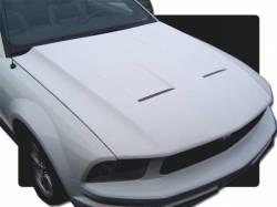 Fiberglass - Hoods - TruFiber - 05 - 09 Mustang Fiberglass Hood Svt Style