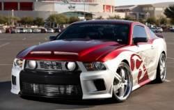 Fiberglass - Hoods - TruFiber - 2010 - 2012 Mustang GT Venom Fiberglass Hood