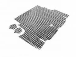 Carpet & Related - Trunk Mats - Scott Drake - 65-66 Mustang Fastback Trunk Mat (Plaid)
