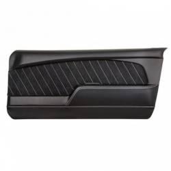 Door Panels & Related - Aftermarket Panels - TMI Products - 67 - 68 Mustang Sport R Door Panels-OE Black Vinyl/Black/Red