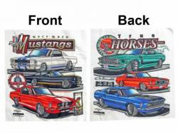 Accessories - Apparel - Scott Drake - Mustang Race Bred/True Horses T-Shirt (3X-Large)