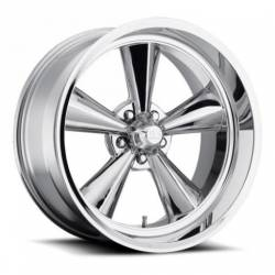 Wheels - 15 Inch - US Mag Wheels - 65 - 73 Mustang Standard 1 Piece Chrome 15x7 Wheel