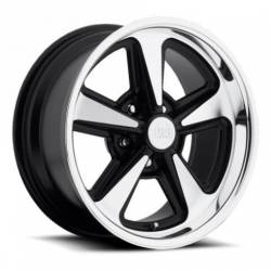Wheels - 18 Inch - US Mag Wheels - 65 - 73 Mustang Bandit 1 PC Black Mach. 18x9 Wheel