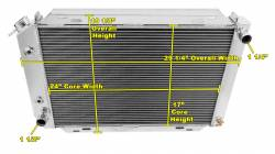 Radiators - 3 - Core - Champion Cooling - 80 - 93 Mustang Champion Radiator 3 Row Core