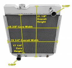 Radiators - 2 - Core - Champion Cooling - 64 - 66 Mustang V8 Conversion Radiator 2 Core