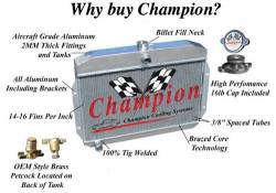 Champion Cooling - 67 - 70 Mustang Radiator Driver Side Outlet - Image 3