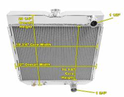 Radiators - 2 - Core - Champion Cooling - 67 - 70 Mustang Radiator Passenger Side Outlet