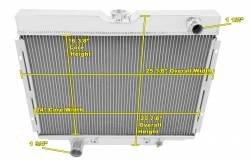 Radiators - 2 - Core - Champion Cooling - 67 - 70 Mustang Champion Radiator (Big Blocks)