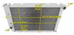 Radiators - 3 - Core - Champion Cooling - 71 - 73 Mustang Champion Radiator 3 Row Core