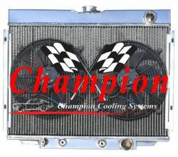 Champion Cooling - 67 - 70 Mustang Champion Fan & Shroud Kit