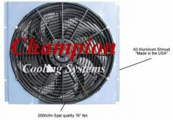 Cooling - Radiator Fan & Shrouds - Champion Cooling - 67 - 70 Mustang Champion Fan & Shroud Kit