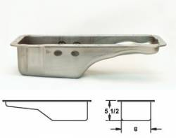 Oil System - Pans - Canton Racing - 64 - 73 Mustang Stock Front Sump Replace Oil Pan