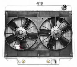 Radiators - 2 - Core - C & R Racing - 69 - 70 Mustang Radiator Module SBF Spal Dual Fan