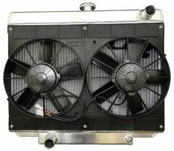 Radiators - 2 - Core - C & R Racing - 69 - 70 Mustang Radiator and Dual Fan 5.0 Coyote