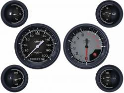Classic Instruments - 64 - 66 Mustang AutoCross 6 Gauge Set w Tach, Grey