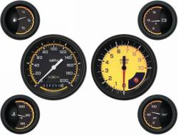 Classic Instruments - 64 - 66 Mustang AutoCross 6 Gauge Set, Yellow