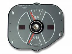 Gauges - Stock Gauges - Scott Drake - 1970 Mustang Fuel & Temp. Gauge, Gray