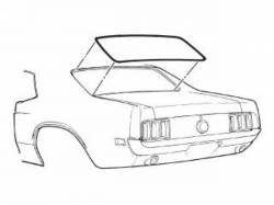 69-70 Mustang Rear Window Seal Coupe