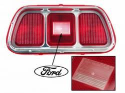 Electrical & Lighting - Tail Lights - Scott Drake - 1971 - 1973 Mustang  Tail Light Lens & Bezel