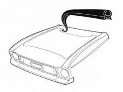 Body - Exterior Seals & Grommets - Scott Drake - 71-73 Mustang Cowl to Hood Seal