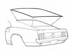 Weatherstrip - Window - Scott Drake - 71-73 Mustang Rear Window Seal (Fastback)