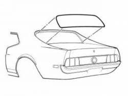 71-73 Mustang Coupe Rear Window Seal