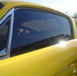 Window Glass - Door Glass - Miscellaneous - 65-66 Mustang Fastback LH Door Glass, Smoke