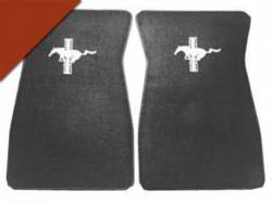 Carpet & Related - Floor Mat Sets - Scott Drake - 1964 - 1973 Mustang  Embroidered Carpet Floor Mats (Emberglow)