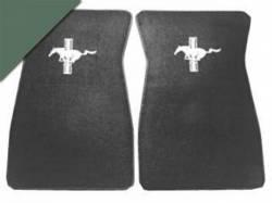 Carpet & Related - Floor Mat Sets - Scott Drake - 1964 - 1973 Mustang  Embroidered Carpet Floor Mats (Ivy Gold)
