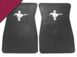 Carpet & Related - Floor Mat Sets - Scott Drake - 1964 - 1973 Mustang  Embroidered Carpet Floor Mats (Maroon)