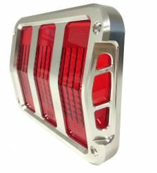 Electrical & Lighting - Tail Lights - Scott Drake - 64 - 66 Mustang Billet Tail Bezels w/ Side Design