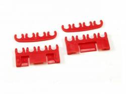 Ignition System - Spark Plug & Related - Scott Drake - 1964 - 1973 Mustang  Spark-Plug-Wire Separator Set (Red)