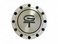 Body - Tail Light Panels - Scott Drake - 64- 73 Mustang Billet Fuel Cap (GT Emblem)