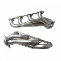 Exhaust - Headers - BBK Performance - 86-93 Mustang 5.0 BBK Unequal Length Shorty Headers, Chrome