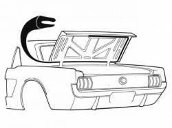 Weatherstrip - Trunk - Scott Drake - Falcon Trunk Weatherstriping 18 1/2ft
