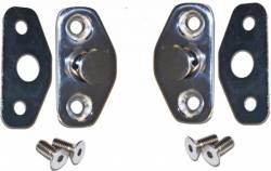 Door - Latches & Related - Scott Drake - 64 - 66 Mustang Stainless Steel Door Striker Kit
