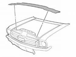 Body - Exterior Seals & Grommets - Scott Drake - 64-70 Mustang Radiator Support to Hood Seal