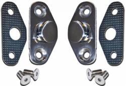 Door - Latches & Related - Scott Drake - 67 - 70 Mustang Stainless Steel Door Striker Kit
