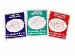 Scott Drake - 1964 - 1965 Mustang  Exploded View Illustration Manual