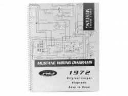 Accessories - Literature - Scott Drake - 1972 Mustang PRO Wiring Diagram Manual (Large Format)