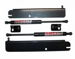 MRT - 79 - 93 Mustang MRT Hood Struts-Black Carbon Fiber