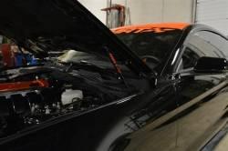 MRT - 2015 Mustang MRT No-Drill Hood Struts-Black Carbon Fiber