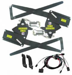 Windows - Power Window Kits - Nu Relics Power Windows - 69 - 70 Mustang Power Window Kit Front Windows