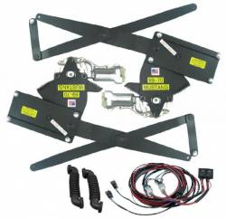 Windows - Power Window Kits - Nu Relics Power Windows - 69 - 70 Mustang Power Window Kit- Black Illum