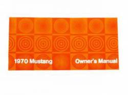 Accessories - Literature - Scott Drake - 1970 Mustang Owners Manual