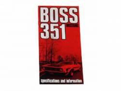 Accessories - Literature - Scott Drake - 1971 Mustang Boss 351 Owners Manual