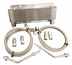 Transmission - Oil Cooler & Related - Performance Automatic - GM & Ford to Frame Mount Cooler and 6 Ft Line Kit