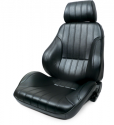 Seats & Components - Aftermarket Seats - Procar - Mustang Procar Rally Black Vinyl Seat, Left